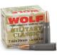 WOLF Military Classic 7.62x39mm Non-Corrosive Berdan Primed Steel Case 124gr. HP Ammo - 20rd